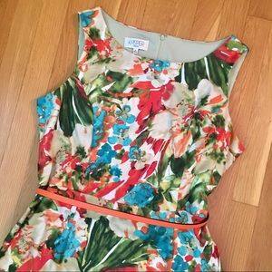 Kasper tropical flower cocktail dress